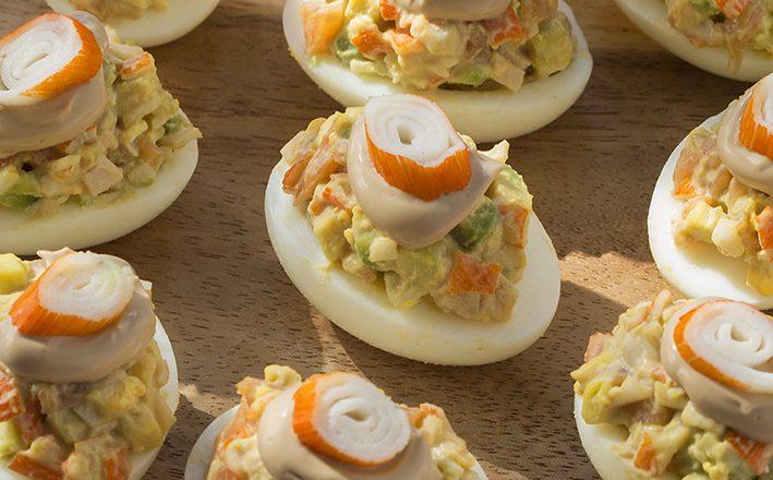 Plnené vajíčka s majonézovým dressingom