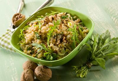 Ryža s orieškami a špeciálnym koreninovým mixom