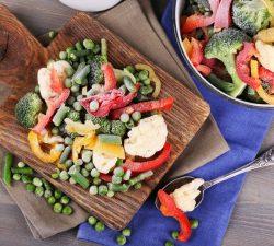 Ako správne zamraziť zeleninu
